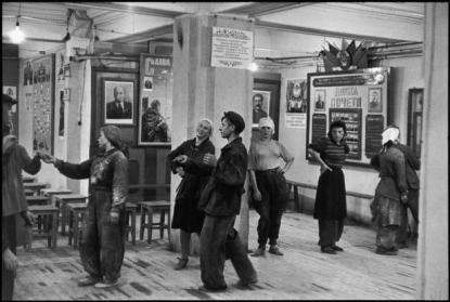 SOVIET UNION. Russia. Moscow. Canteen for workers building the Hotel Metropole. 1954.