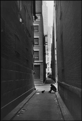 USA. New York City. Manhattan. Downtown. 1947.
