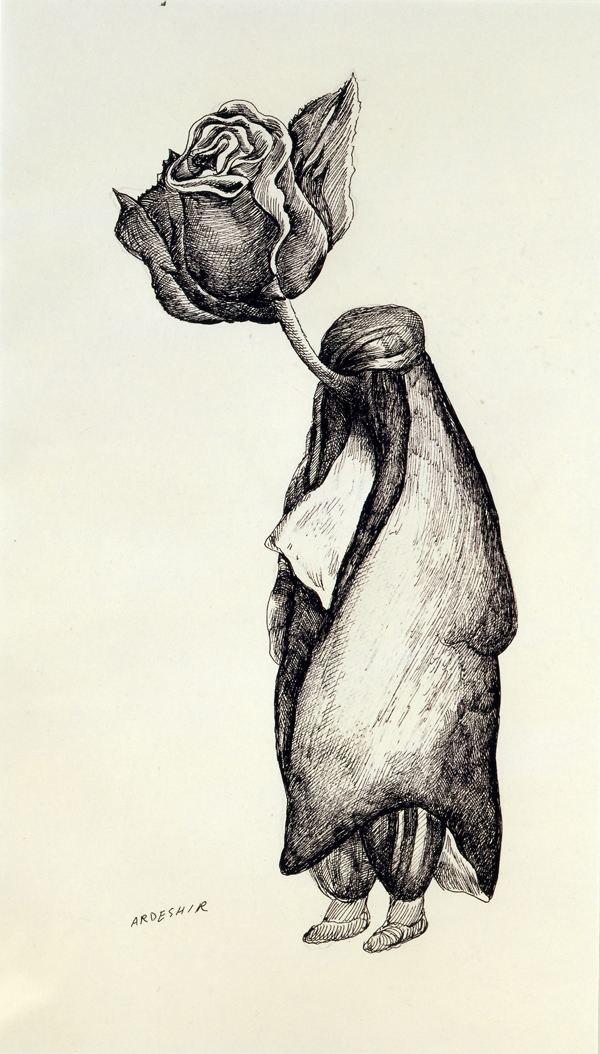 Ardeshir Mohassess, Untitled, 1978.KATAYOUN BEGLARI-SCARLET AND PETER SCARLET COLLECTION.