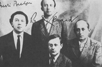 Andre Breton with Eluard, Peret and Tzara, 1922