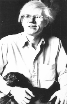 Andy Warhol and his dachshund, Archie.
