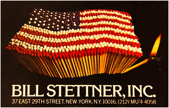 Η επαγγελματική κάρτα του Studio Bill Stettner με μια διάσημη φωτογραφία του, αλληγορία για την δική του Αμερική.