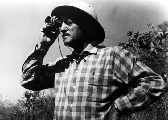 Luis Bunuel shooting Robinson Crusoe