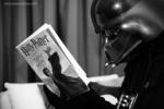 Darth Vader reading Harry Potter