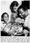 Dizzy Gillespie reads to a young Gregory Hines and his brother