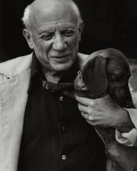 Pablo Picasso and Lump 2.