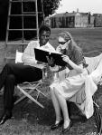 Sidney Poitier and Elizabeth Hartman