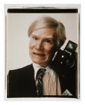 Andy Warhol. Self Portrait with Polaroid camera, 1979
