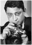 Carl Mydans with camera in hand, by Bernard Hoffman 1937