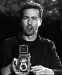 Edward Norton with a Rolleiflex
