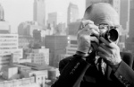 Henri Cartier-Bresson, a founding member of MagnumPhotos, on the roof of the Magnum office in Manhattan on West 57th Street, 1961.