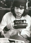 Johnny Depp with a Polaroid