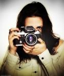 Kristen Stewart with a Nikon F2 Photemic