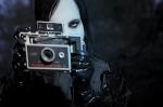 Marilyn Manson with Polaroid
