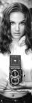 Natalie Portman with a Rolleiflex