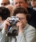 Queen Elizabeth II with a Leica