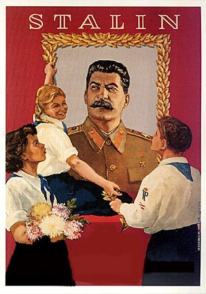 stalin with kids