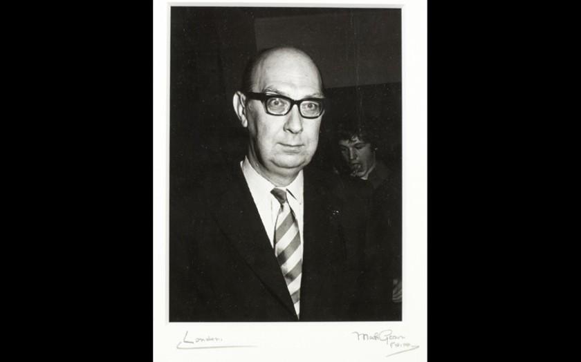 A portrait of Philip Larkin taken in The National Hospital, 28 June 1977.