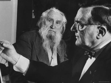 O Chaliapin σκιτσάρει τον γλύπτη Sergei Konenkov (1960)
