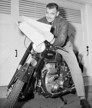 Clark Gable 1934 Harley Davidson RL