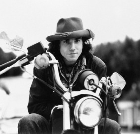 Daniel Day-Lewis in Brimmed Hat on Motorcycle