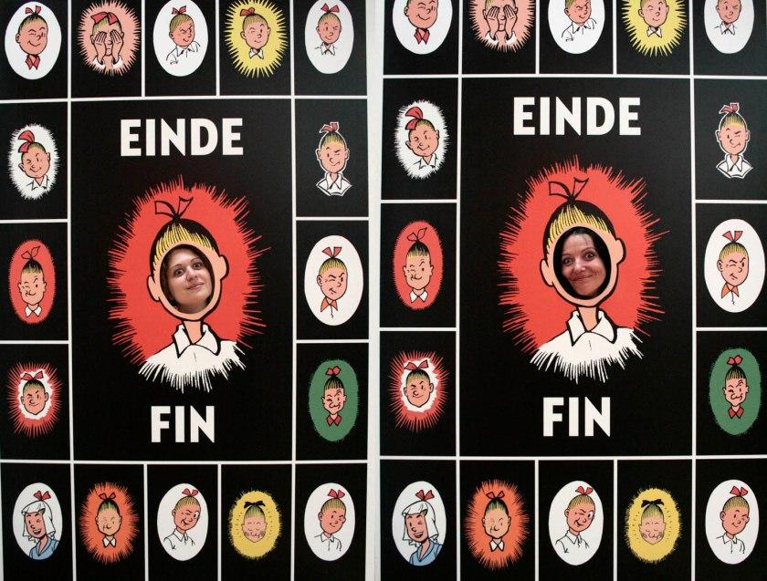 Οι συντάκτριες του dim/art Αθηνά Χριστίνα Μχαλακέα και Ελένη Κεχαγιόγλου αποφάσισαν επίσης να παραμείνουν στον κόσμο των κόμιξ. Με αυτή τη φωτογραφία τους, κλείνει το αφιέρωμα του dim/art στα μουσειάκια Βρυξελλών.