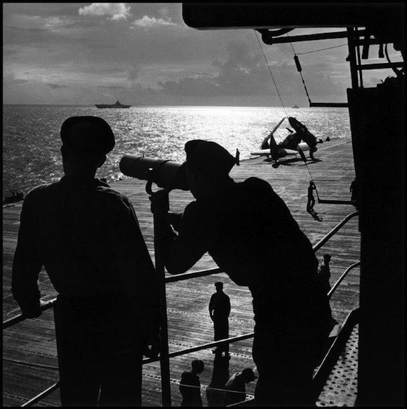 SOUTH PACIFIC. 1943. USS Saratoga. Image © Wayne Miller / Magnum Photos