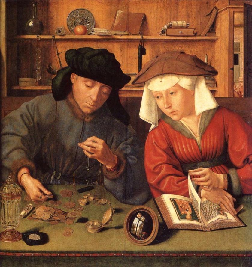 Quentin Metsys, ο τραπεζίτης και η γυναίκα του, 1514