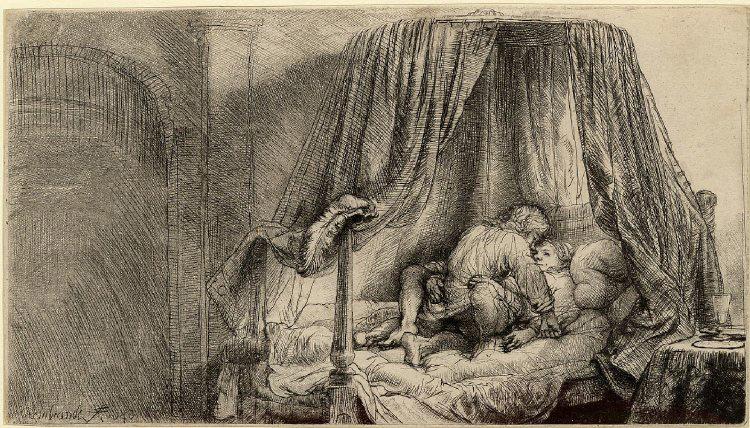 Ρέμπραντ, Το κρεβάτι, 1646