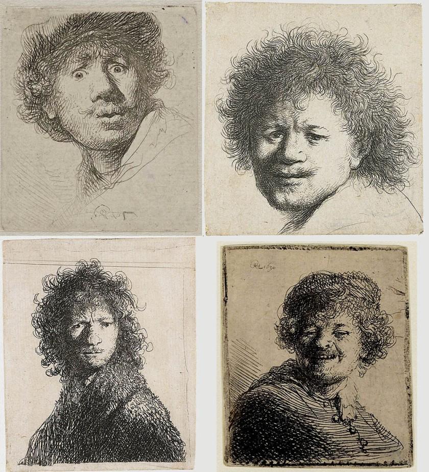 Rembrant autoportraits  grimaces
