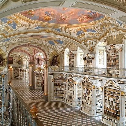13 Library at the Benedictine Monastery of Admont — Admont, Austria
