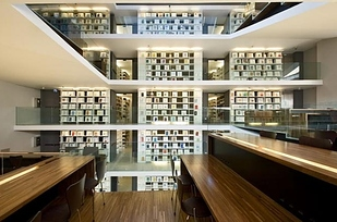 14 Library at Pontifical Lateran University — Rome, Italy