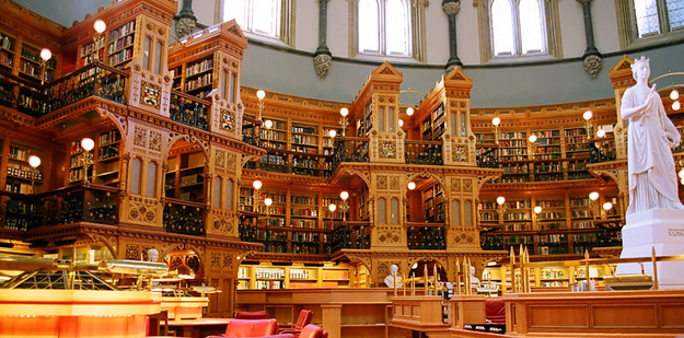 15 Library of the Canadian Parliament — Ottawa, Canada