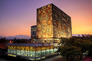 23 Central Library at National Autonomous University of Mexico — Mexico City, Mexico b