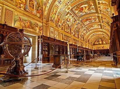 24 Library at the Royal Seat of San Lorenzo de El Escorial — San Lorenzo de El Escorial, Spain
