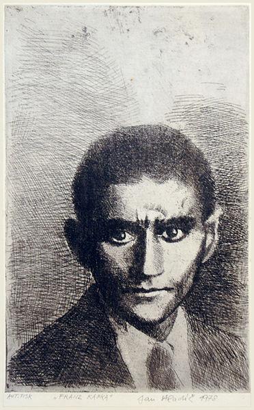 Franz Kafka,χαρακτικό του Jan Hladík, 1978