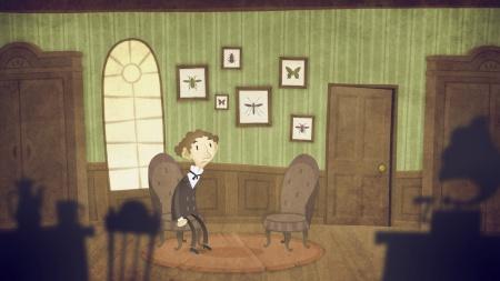 Screenshot from The Franz Kafka Videogame for iOS, PC & Mac.