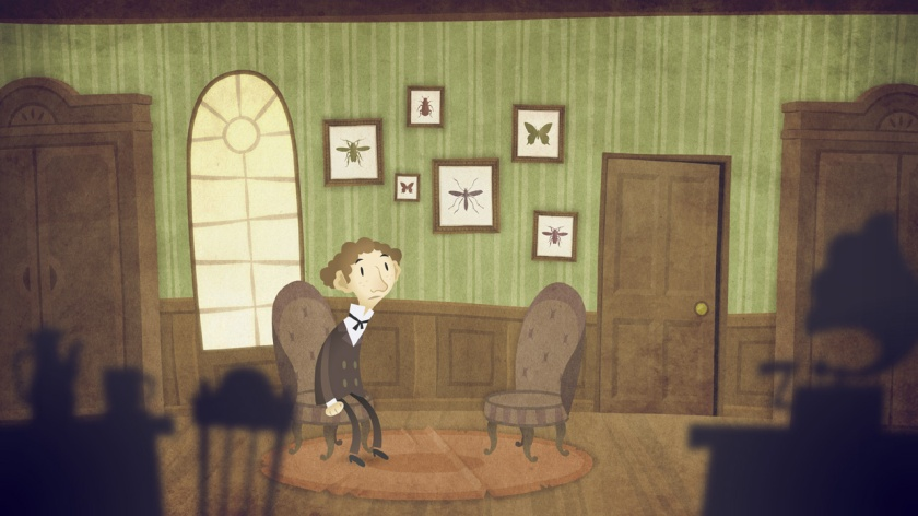 Screenshot from The Franz Kafka Videogame for iOS, PC & Mac.