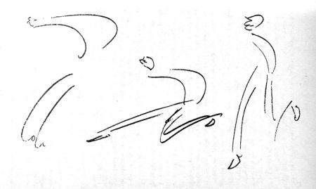 Σκίτσο του Κάφκα, από τα ημερολόγιά του