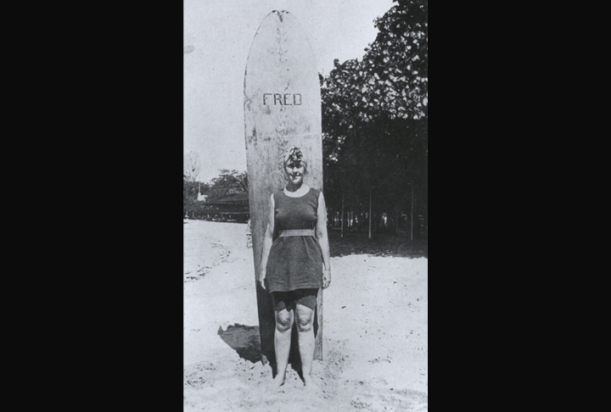 Agatha Christie at Waikiki, Hawaii, 1922