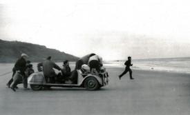 François Truffaut at Work by Carole Le Berre 1958