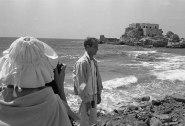 Paul Newman at the beach