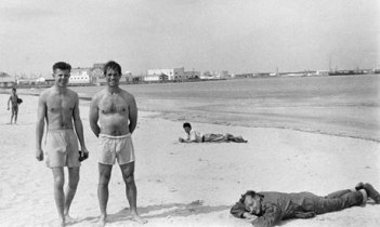 Peter Orlovsky, Jack Kerouac, William Burroughs, Tangier 1957 Photo Allen Ginsberg