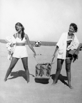 Sylvia Plath and Elizabeth Cantor, Nauset Beach, Cape Cod, 1952