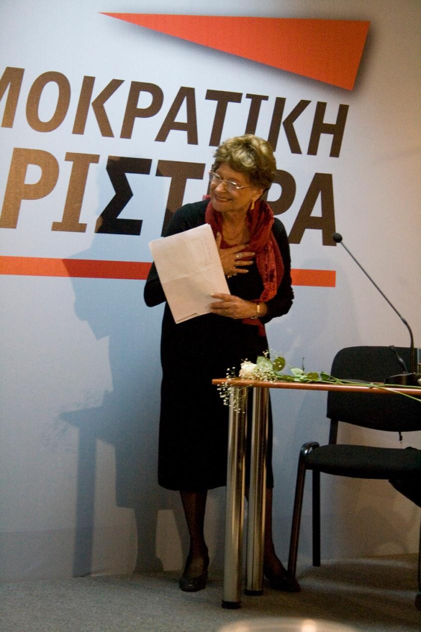 Δεκέμβριος 2011, εκδήλωση του Τομέα Πολιτισμού της ΔΗΜΑΡ για τον Στρατή Τσίρκα.