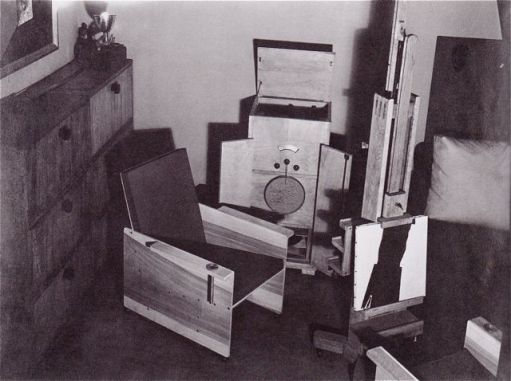 Man Ray's Atelier 8 rue du Val-de-Graxce Paris c. 1935 (All furniture by Man Ray.)