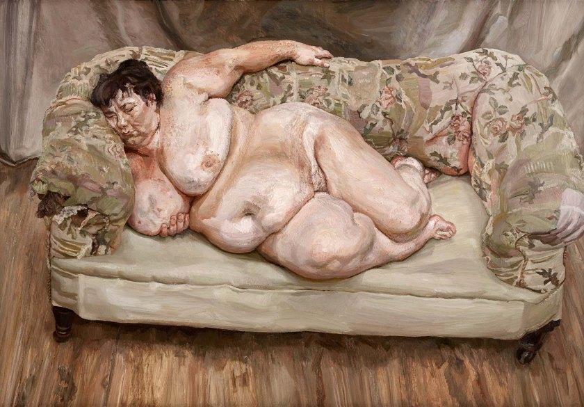 Benefits Supervisor Sleeping, 1995 (oil on canvas)