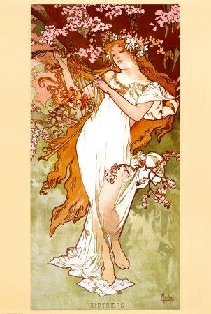 Spring Alphonse Mucha