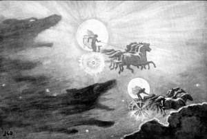 Οι λύκοι τού μύθου, Skoll και Hati.