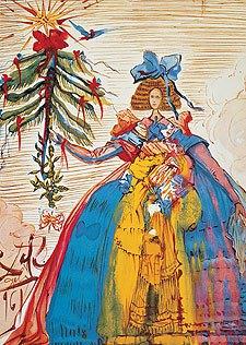 """Felicitación de Navidad, 1961 (con la infanta Margarita de """"Las meninas"""")"""
